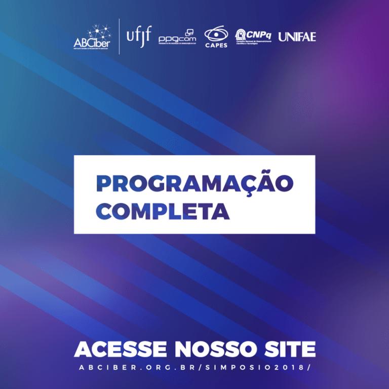 Confira aqui a programação completa no XI Simpósio Nacional da ABCiber